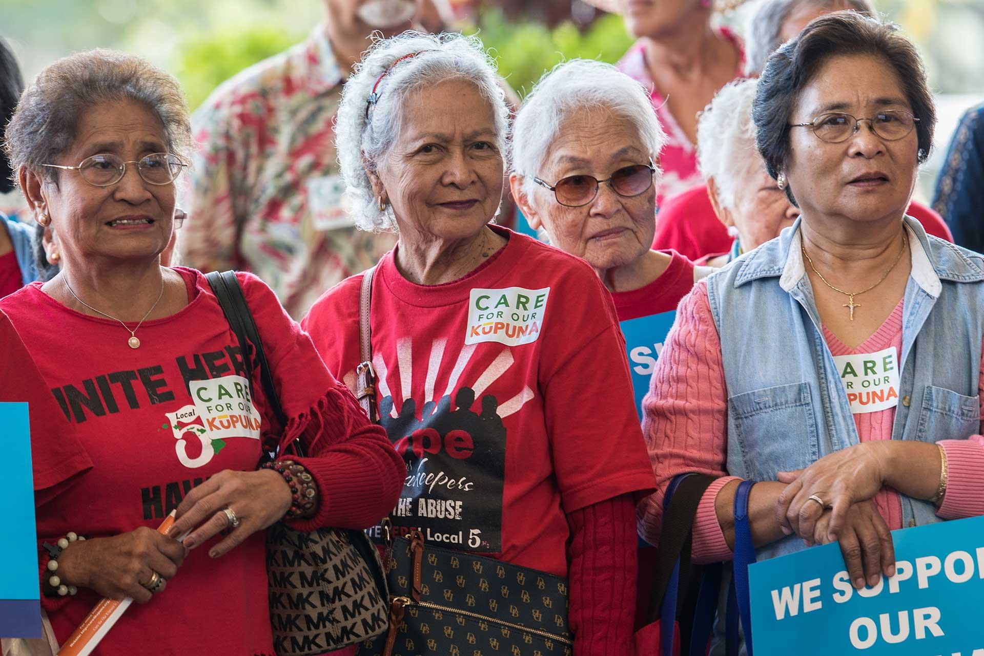 Kupuna Caregiver supporters